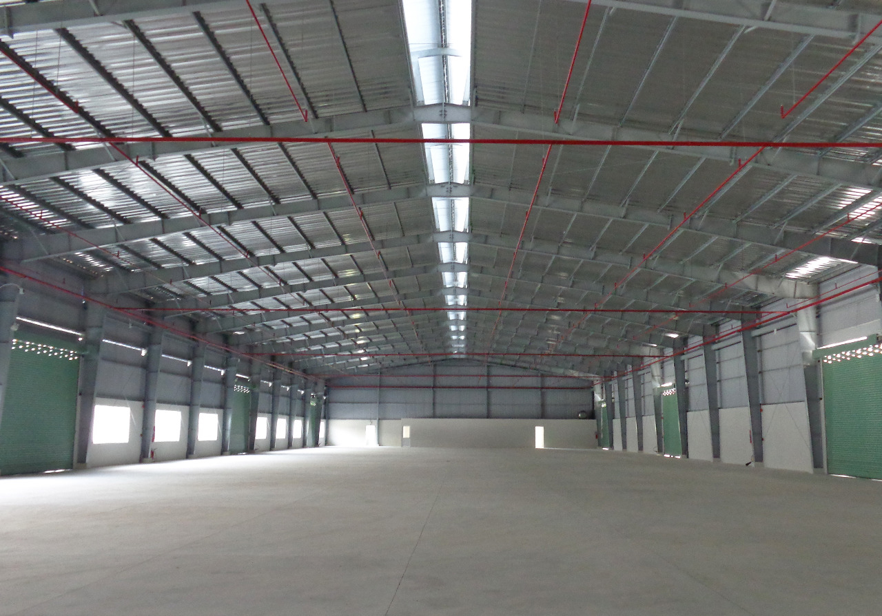 レンタル工場の内部