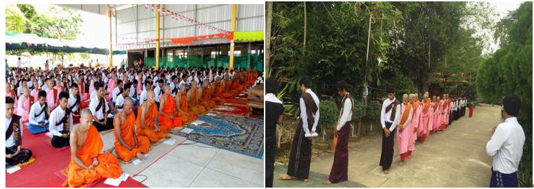 ミャンマーの新年と水かけ祭り